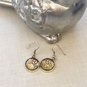 Handcrafted Watch Gear Steampunk Dangle Earrings